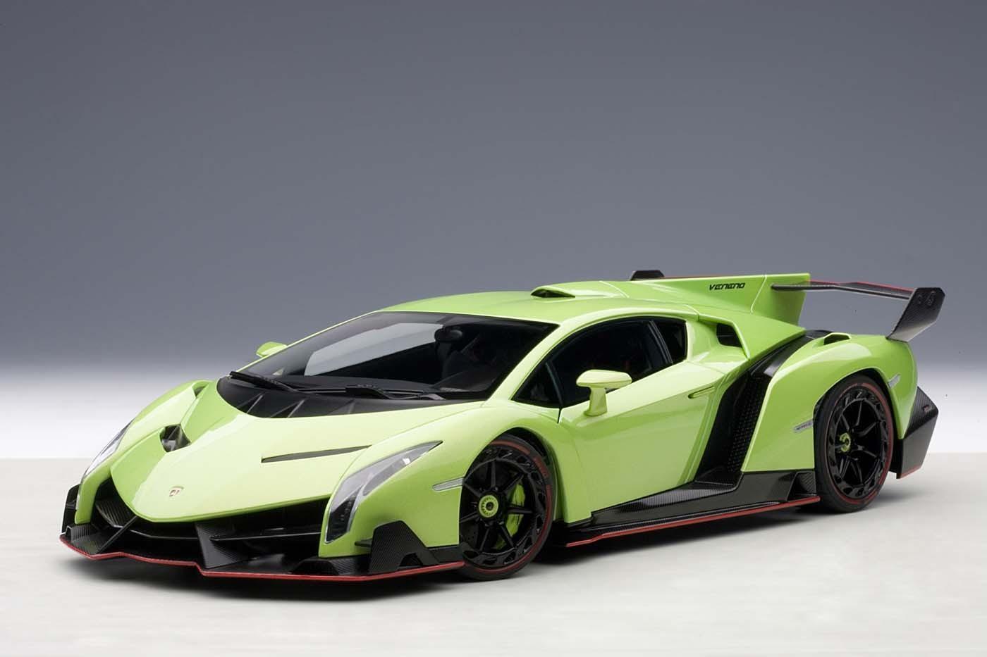 Autoart Highly Detailed Die Cast Model Green Lamborghini Veneno 74509 1 18 Scale Item Au74509