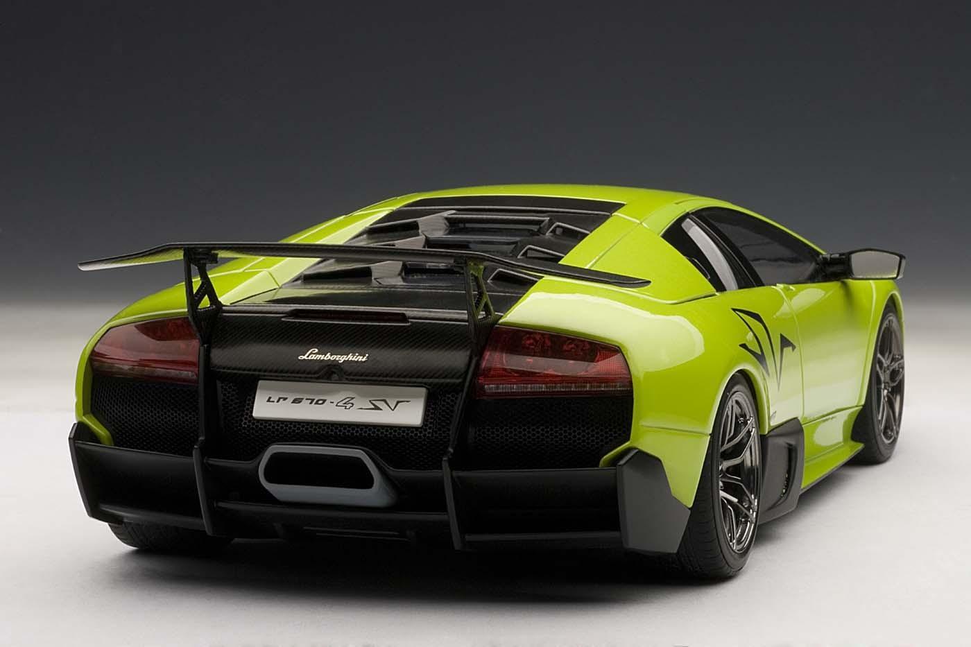Green Ithaca Lamborghini Murcielago Lp670 4 Sv Autoart Au74627 Scale