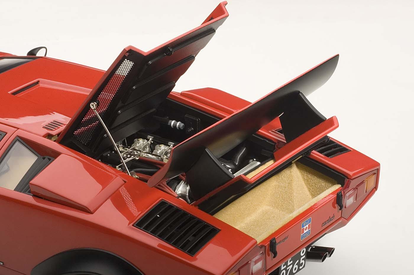 Autoart Die Cast Model Lamborghini Countach Walter Wolf Edition Red