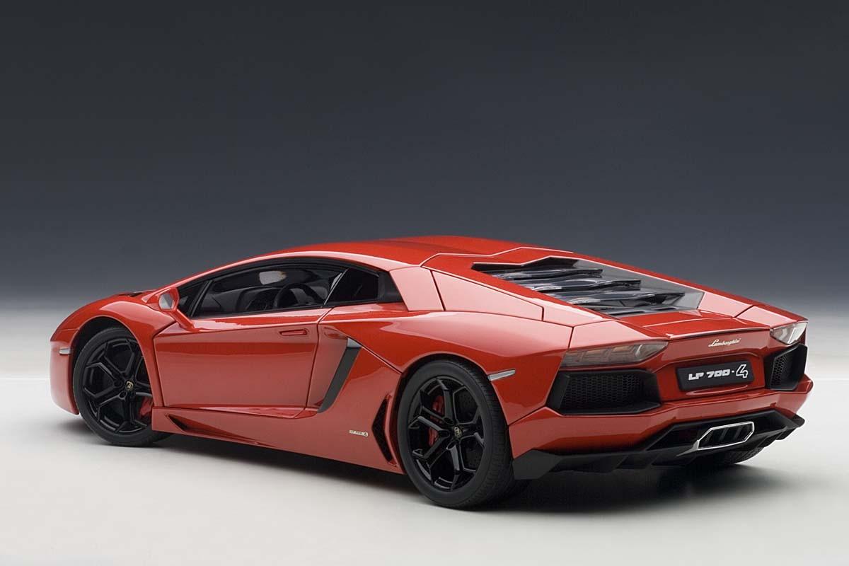 Autoart 1 18 Scale Lamborghini Aventador Lp700 4 74669 Red W Black Eztoys Diecast Models And Collectibles