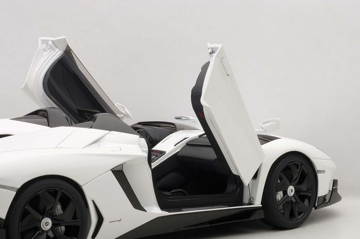 lamborghini aventador j roadster white 74674 autoart die cast scale model 1