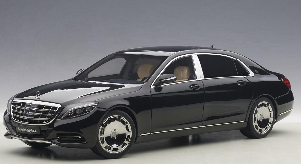 Black Maybach Mercedes S Klasse S600 Die Cast Autoart