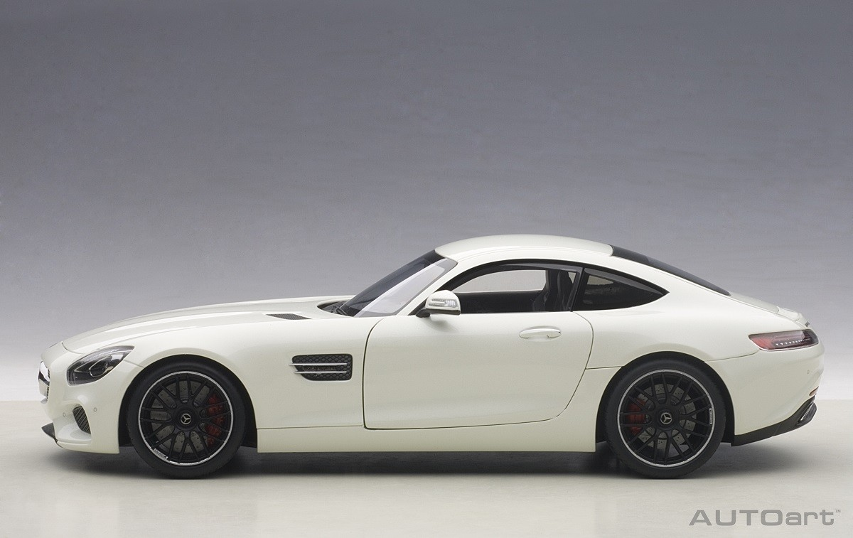 Bright White Mercedes Amg Gt S Autoart 76311 Scale 1 18