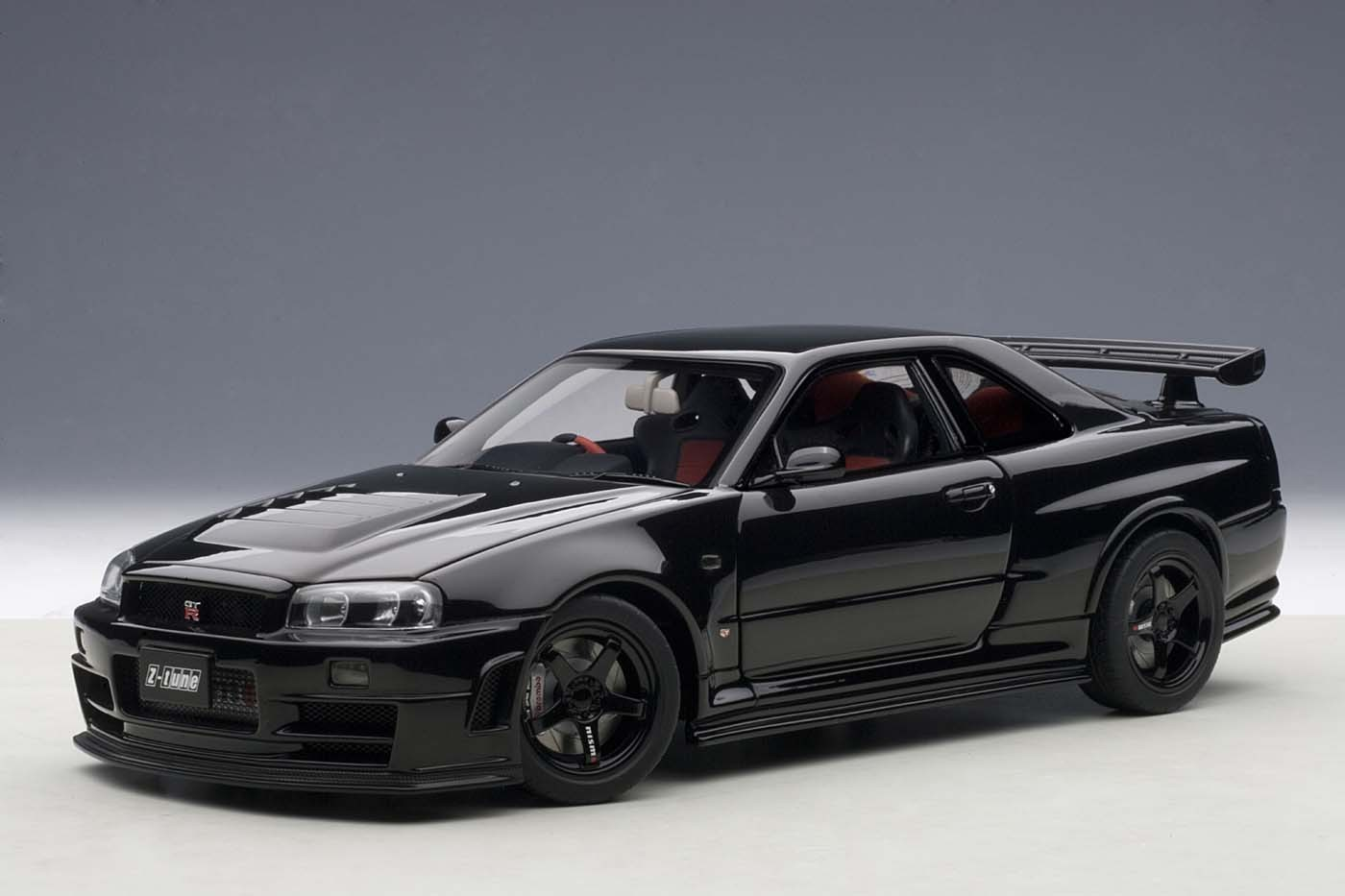 autoart die cast model nissan r34 gt r z tune skyline black 77355 die cast model in 1 18 scale. Black Bedroom Furniture Sets. Home Design Ideas