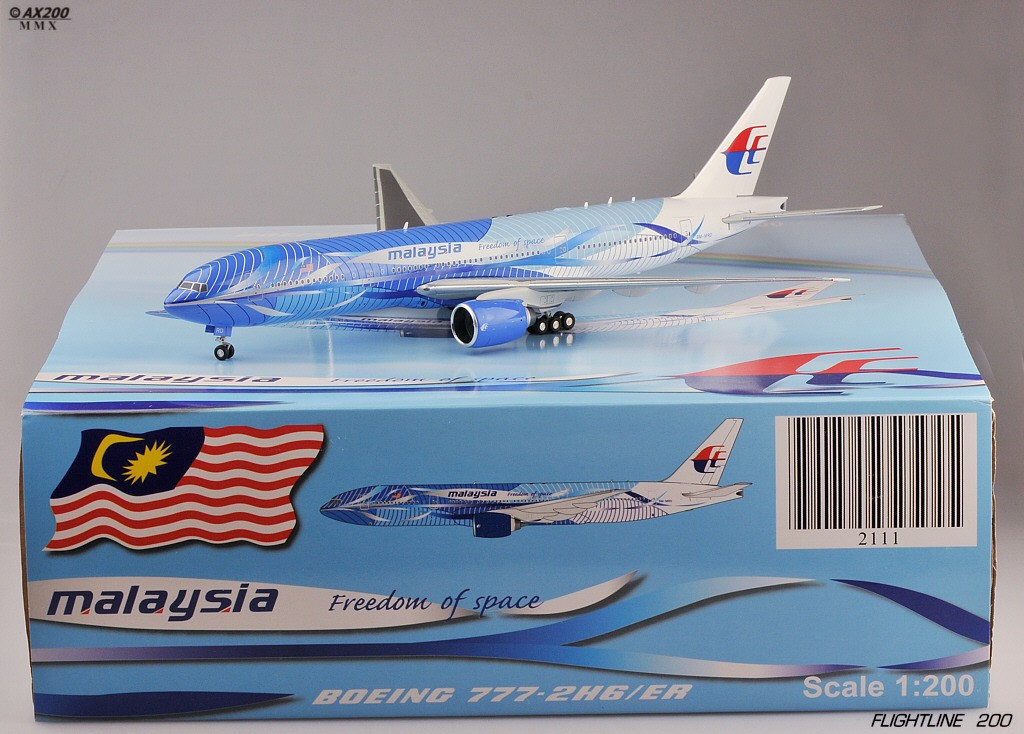 """Malaysia Airlines B777-200 """"Freedom of Space"""" 1:200 ezToys ..."""