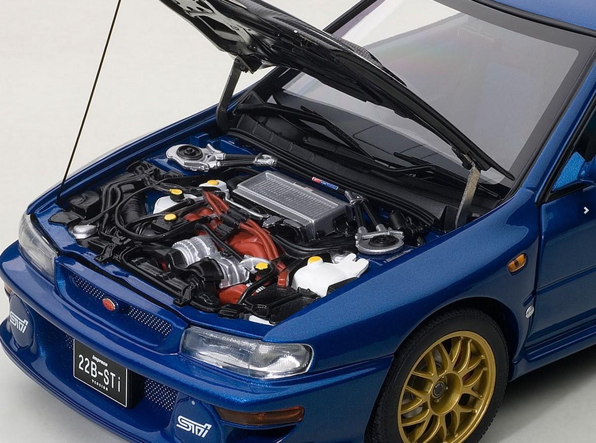 Autoart Highly Detailed Die Cast Model Blue Carbon Fiber