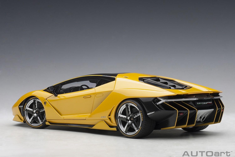 Yellow Lamborghini Centenario Giallo Orion Autoart 79115 Scale 1 18