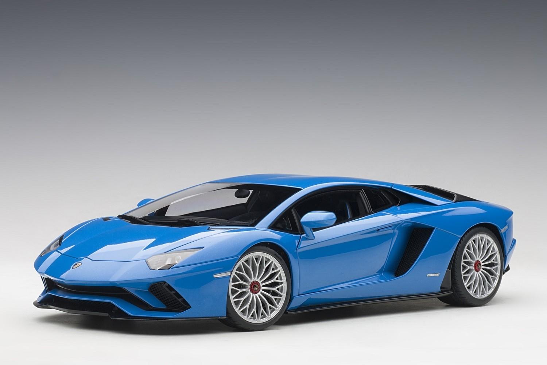 Pearl Blue Lamborghini Aventador S Blu Nila Autoart 79134 Scale 1 18 Eztoys Diecast Models And Collectibles