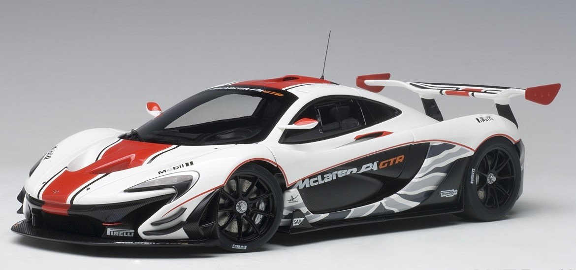 Mclaren P1 For Sale >> McLaren P1 gloss white with red stripes AUTOart 81541 Scale 1:18 ezToys - Diecast Models and ...