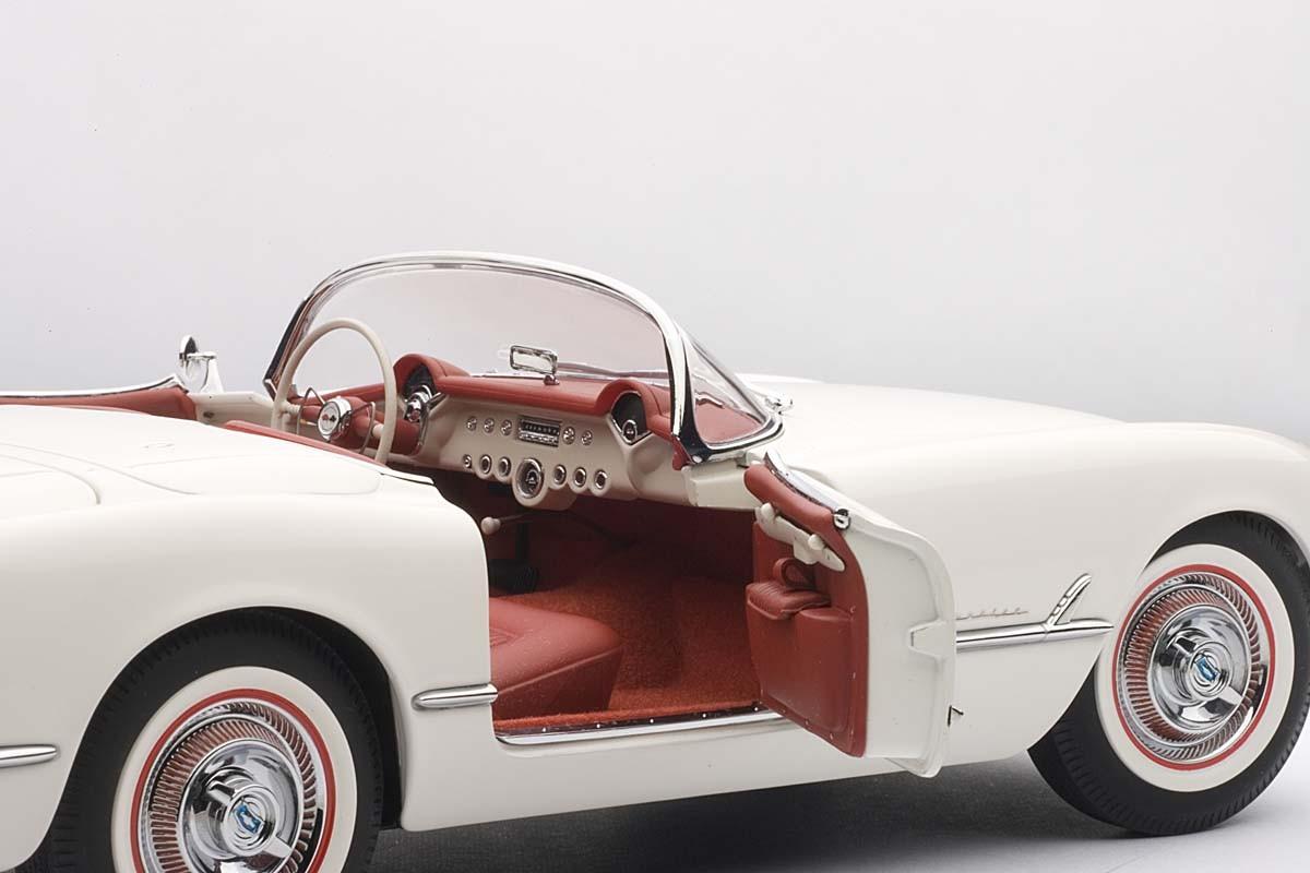 Autoart 1 18 Scale Chevrolet Corvette 1953 Polo White