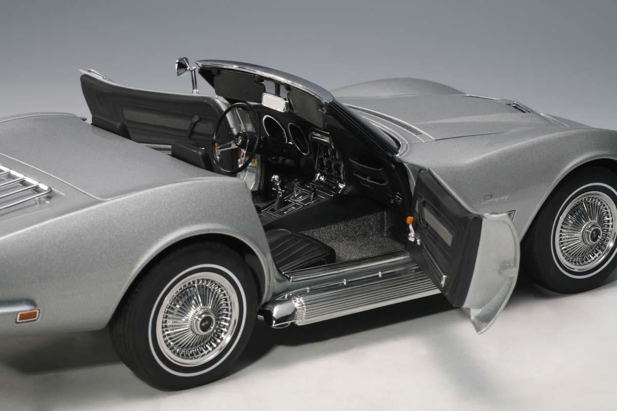 Autoart 1 18 Scale Chevrolet Corvette 1969 Catez Silver