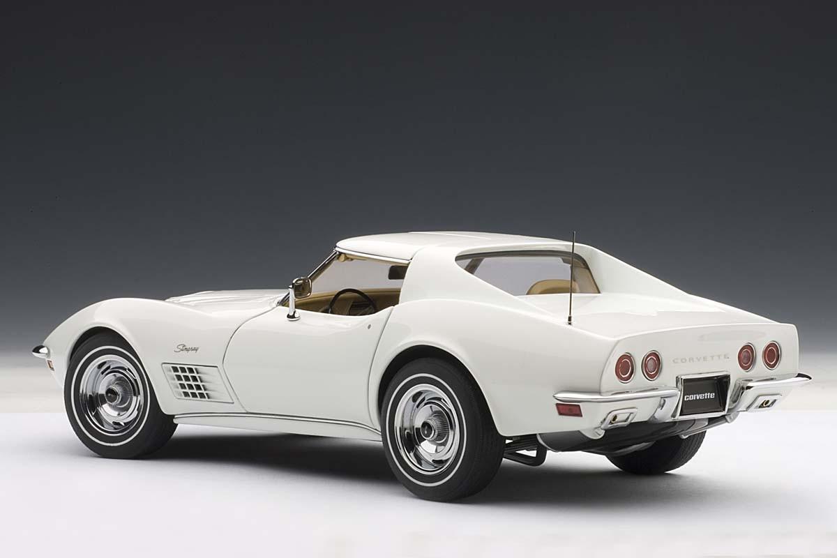 Corvette For Sale >> AUTOart 1:18 Scale Chevrolet Corvette 1970, Classic White, Limited Edition 6,000 pcs Worldwide ...