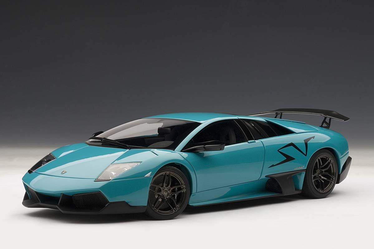 Autoart 1 18 Scale Lamborghini Murcielago Lp670 4 Sv Turquoise Blue
