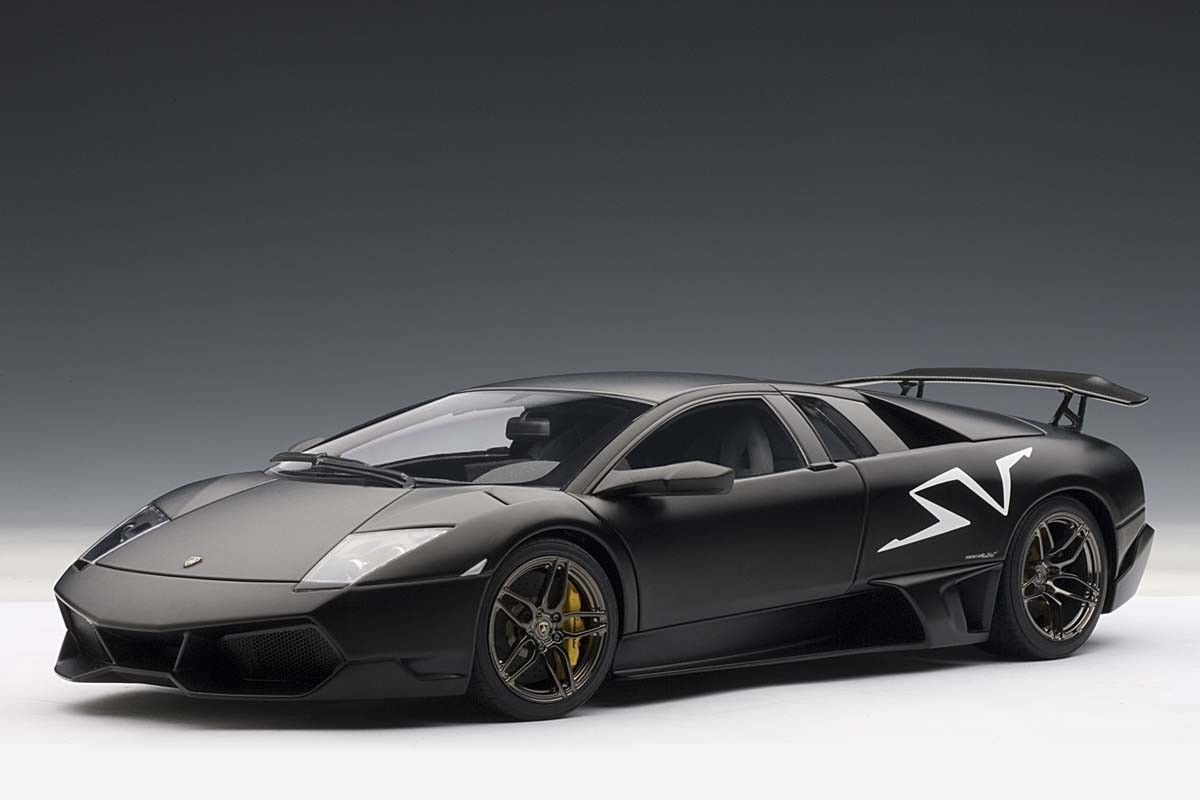 Autoart 1 18 Scale Lamborghini Murcielago Lp670 4 Sv Nero Nemesis