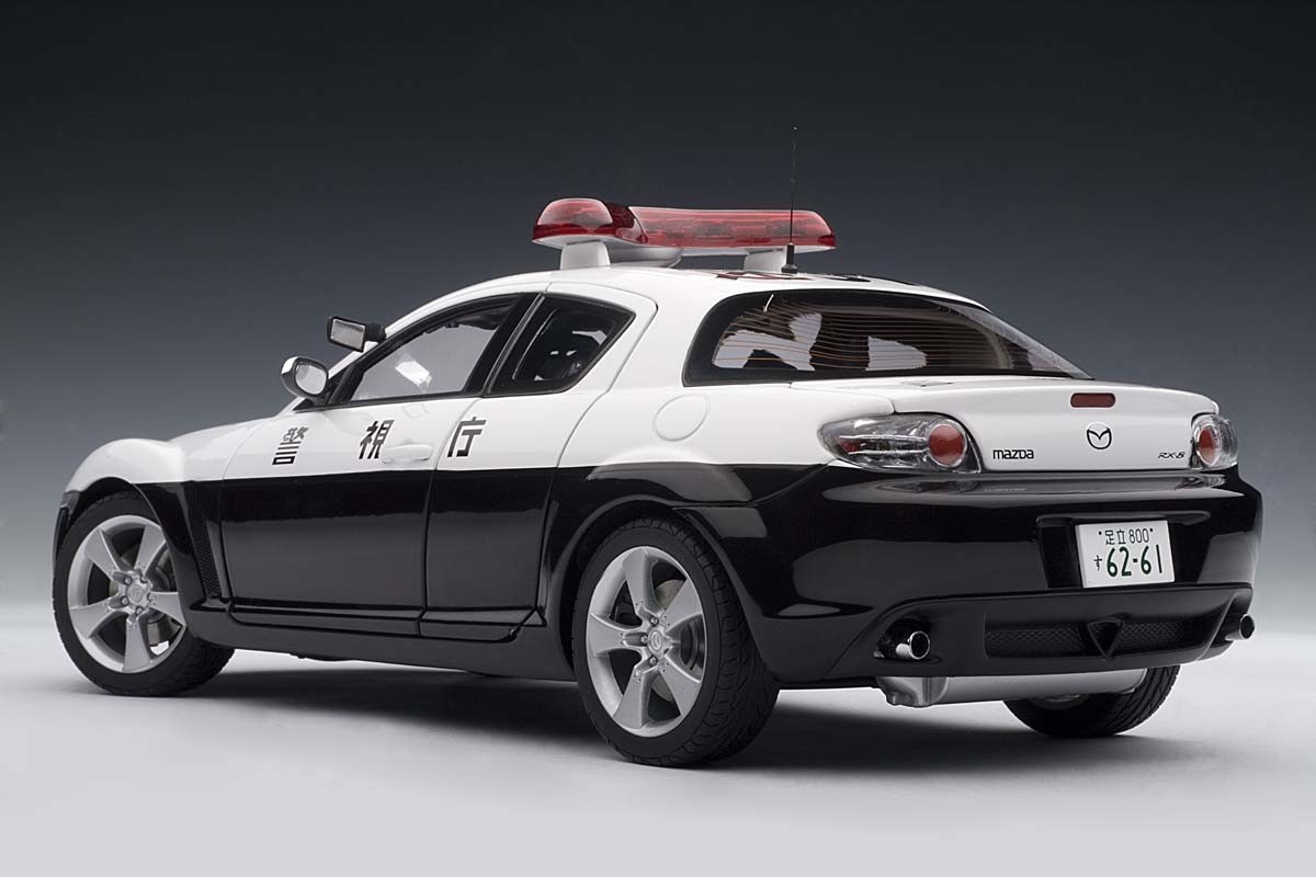 Police Cars For Sale >> AUTOart 1:18 Scale Mazda RX-8 Police Car, Limited Edition ...