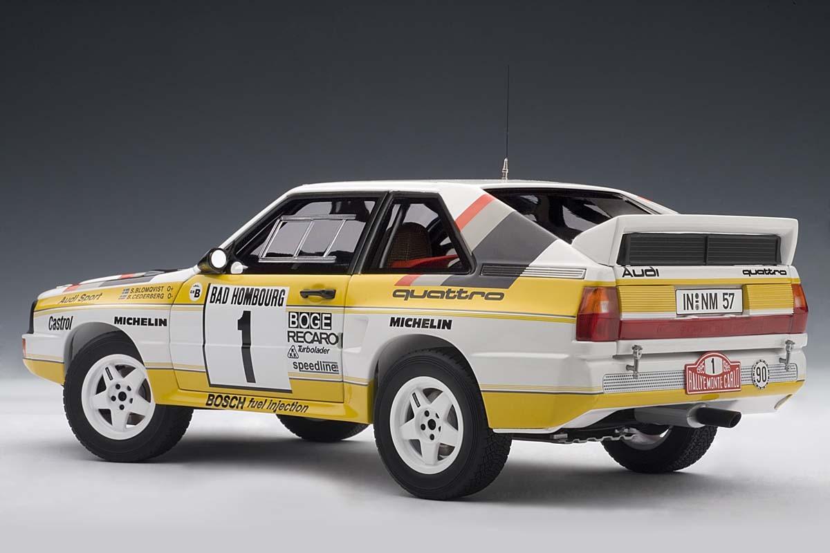 autoart 1 18 scale audi sport quattro rally 1985 s. Black Bedroom Furniture Sets. Home Design Ideas