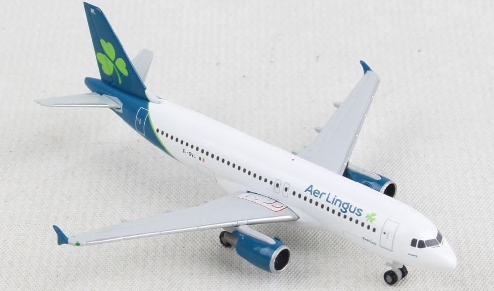 """Herpa Wings 533690 Aer Lingus Airbus A320 Reg#El-DVL /""""St New Moling/"""" 1//500"""