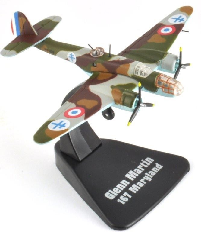 Free French Air Force Martin 167 Maryland WWII by Atlas Editions ATL-MGS-17  Scale 1:144