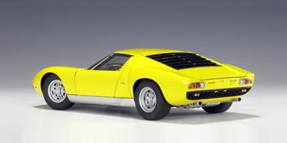 Yellow Lamborghini Miura Sv 1966 Autoart 74541 Scale 1 18 Eztoys