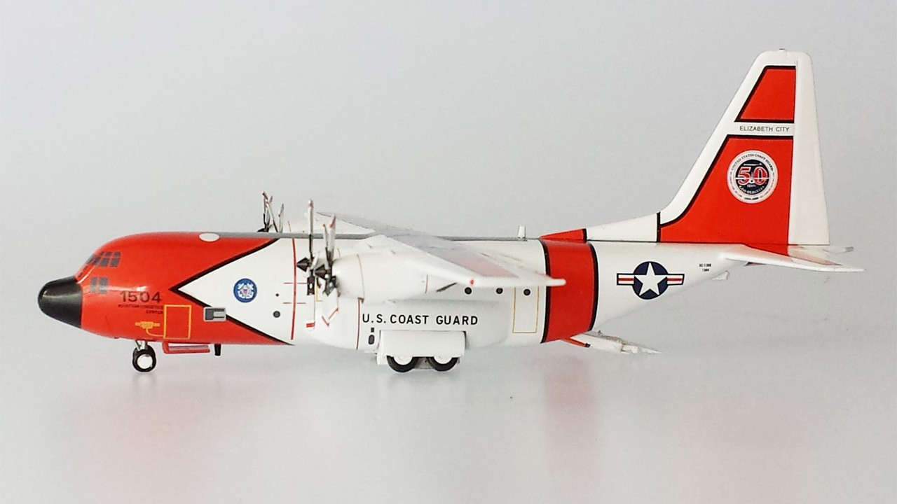 Highly Detailed Aviation Die Cast Model Us Coast Guard 50