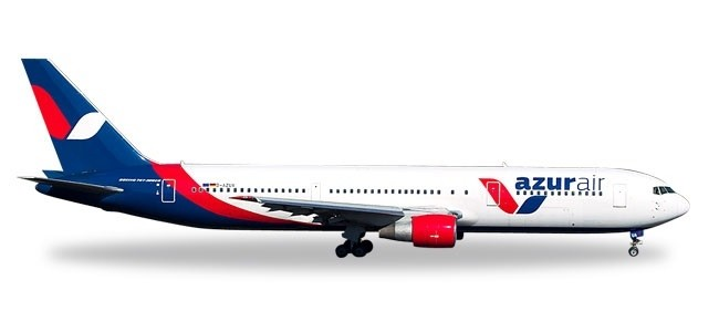 Azur Air Germany Boeing 767-300 D-AZUA charter Herpa 531726 scale 1:500