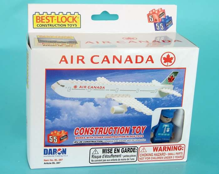 55 Piece Air Canada Airplane Jet and Action Figure BL287 by Best-Lock