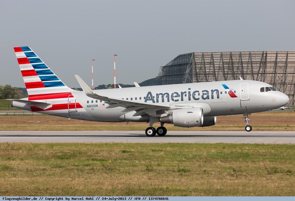 New Mould 1 100 American Airbus A319 Reg N8001n