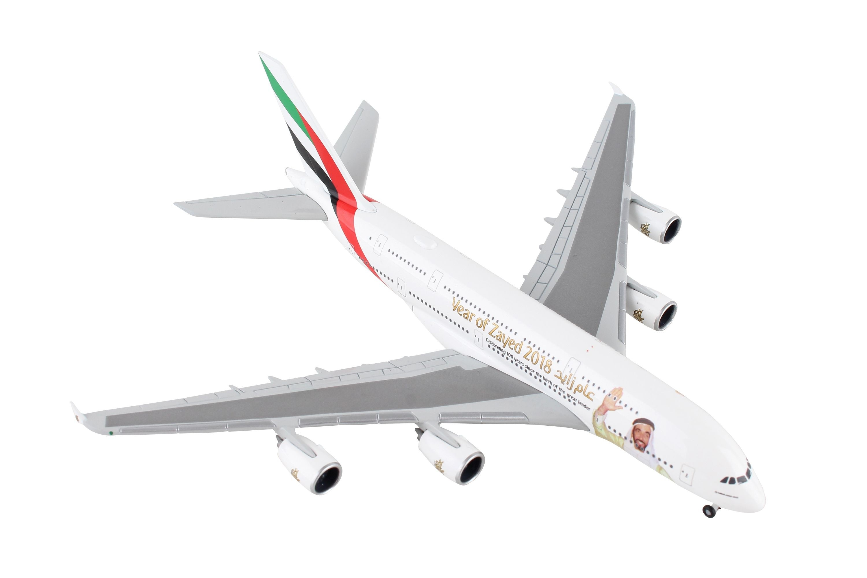 Herpa Wings 1:500 Airbus a380-800 Emirates year of Zayed 531535