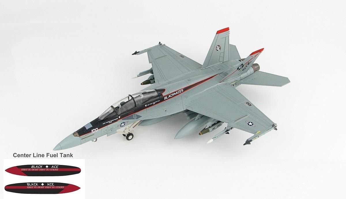 F/A-18F Black Aces US Navy VFA-41 CAG USS Stennis 2012 HA5111 1:72
