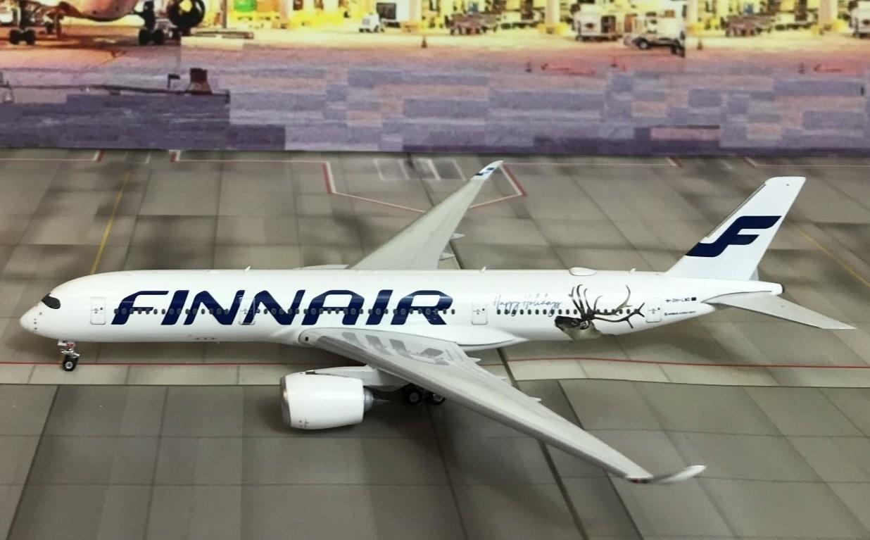 JC Wings 1//400 Finnair Airbus A350-900 Happy Holidays OH-LWD diecast metal model