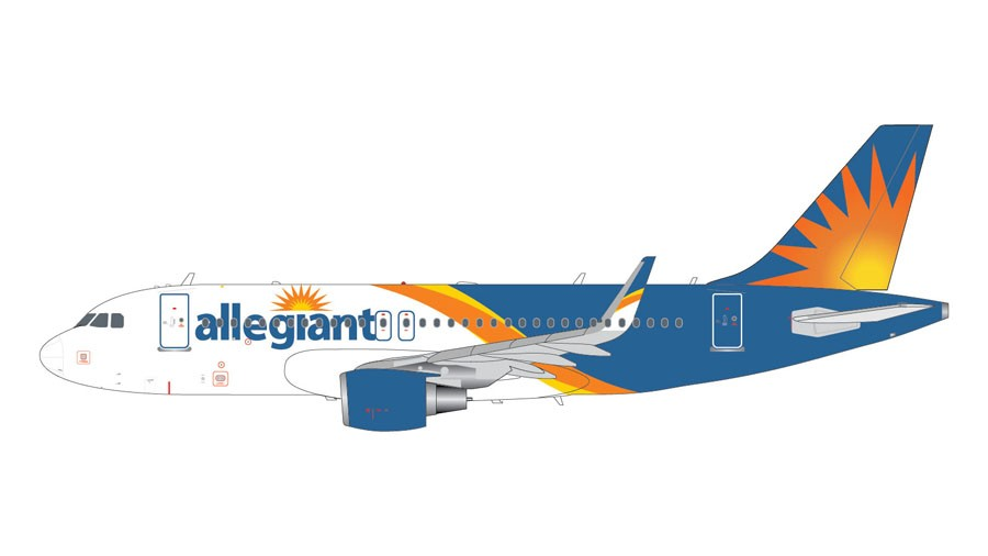 Allegiant Airbus A319 A319 S New Livery Sharklets