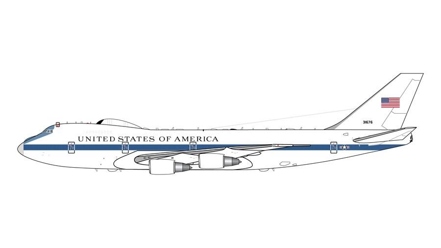 G2AFO761 Gemini200 Usaf E4B 1:200 73-1676 Model Airplane