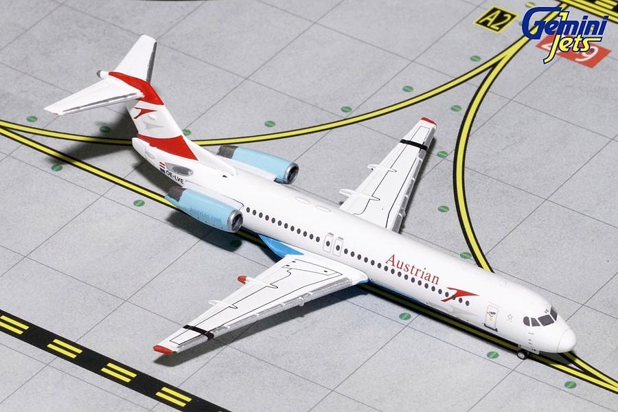 Gemini Jets Austrian F-100 Goodbye Fokker GJAUA1740 1//400 REG#OE-LVE New