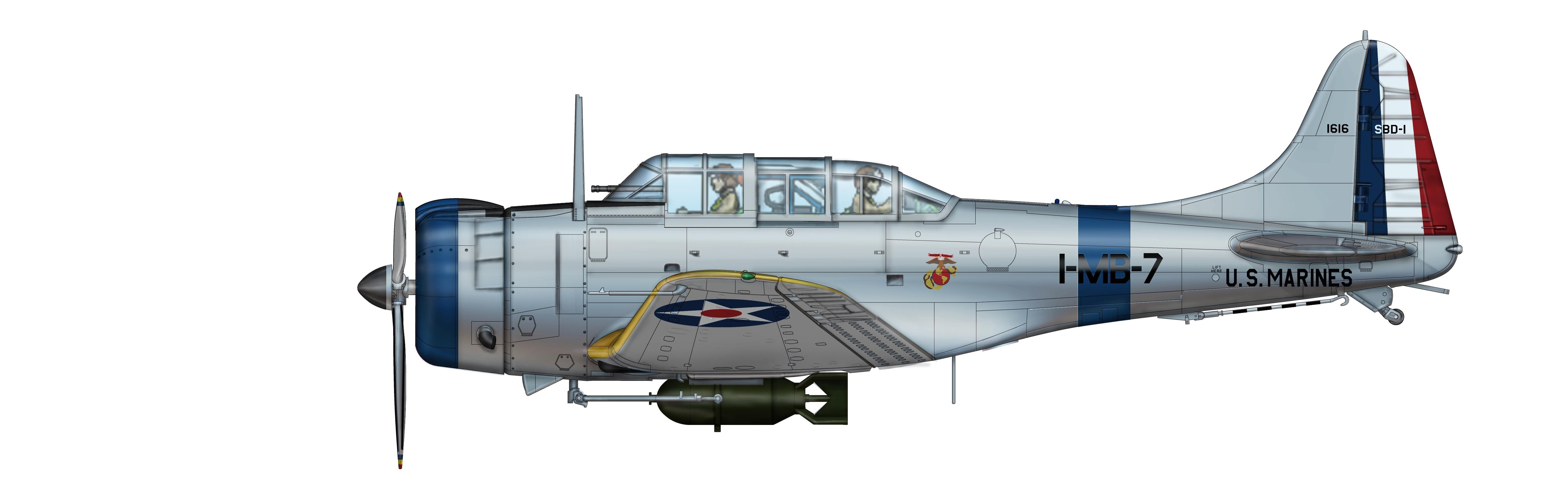 Hobby Master Air Power Series Douglas Sbd 1 Dauntless Us