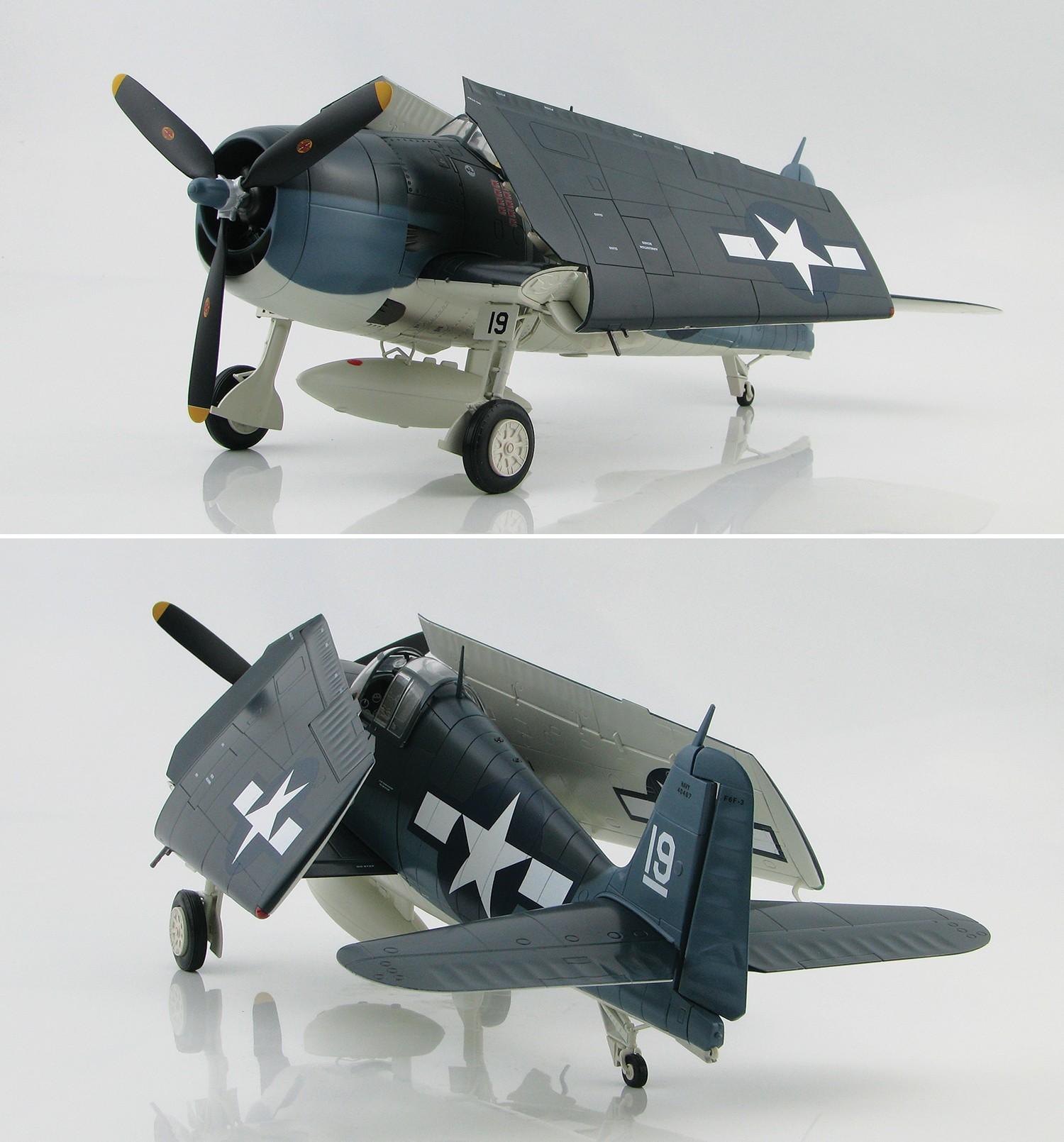 Highly detailed Hobby Master F6F Hellcat Grumman F6F-3 ...