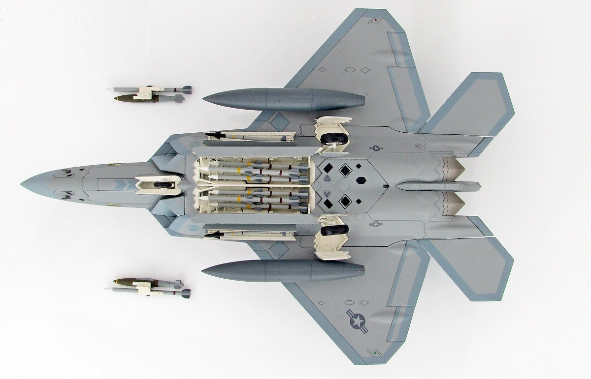 All Types f 22 raptor specs : Highly detailed Hobby Master pre-painted diecast metal model F-22 ...