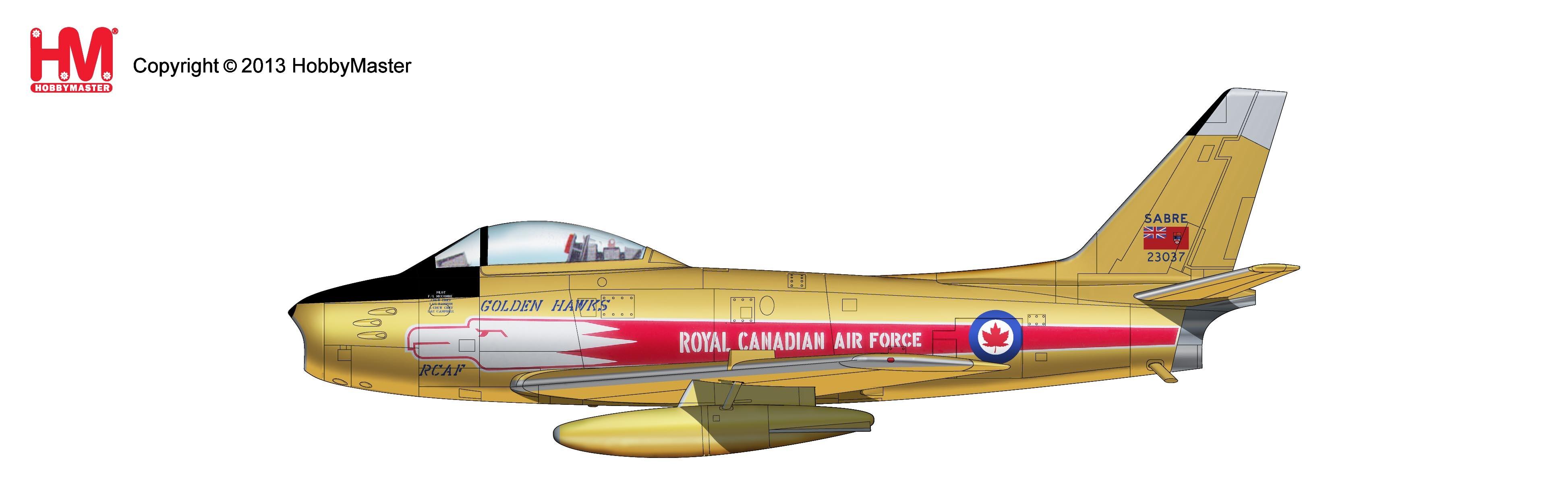 "RCAF HOBBYMASTER HA4303  CANADAIR SABRE Mk.5 /""GOLDEN HAWKS/"" AEROBATIC TEAM"