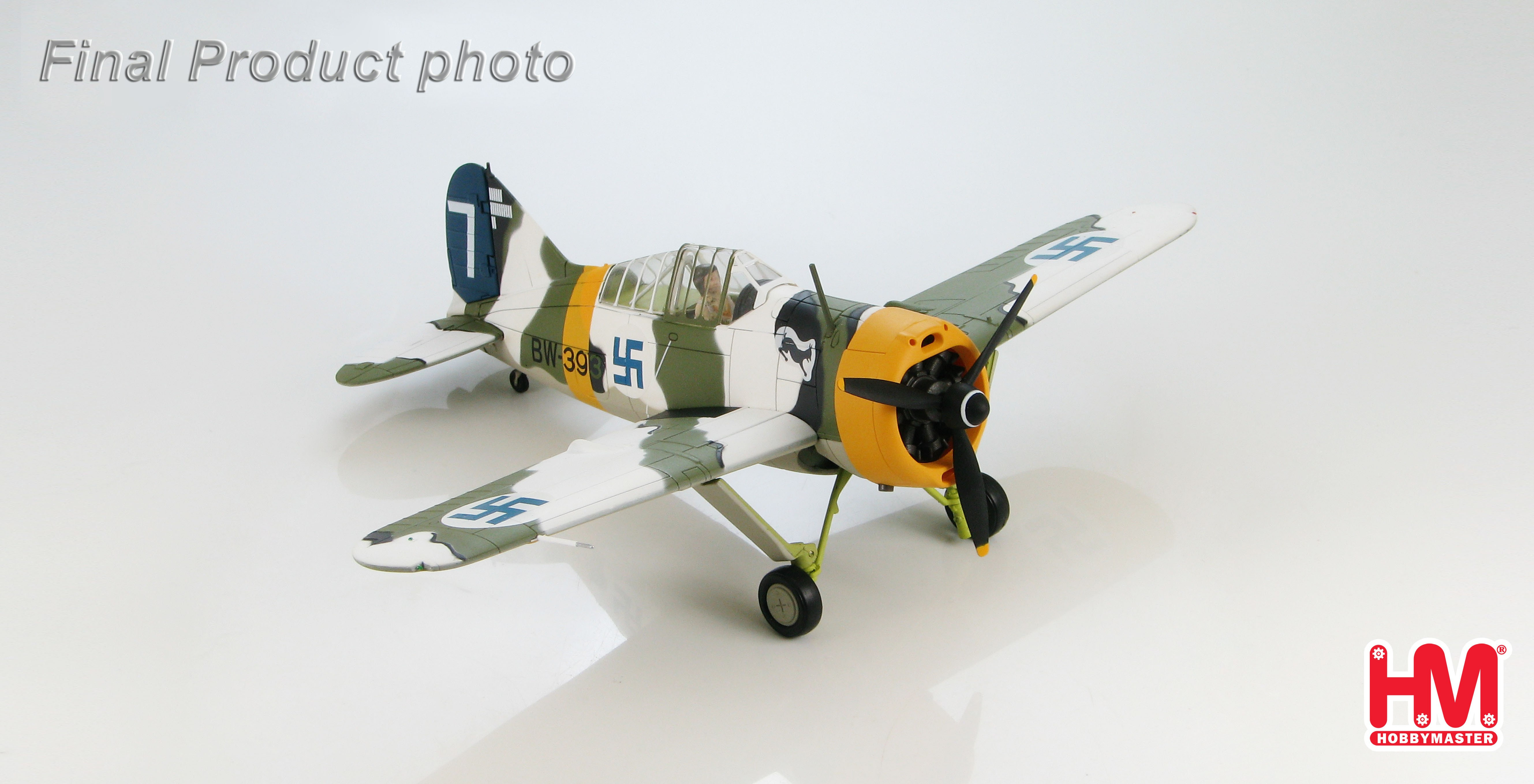 "Hobby Master F2A Buffalo Diecast Model Finnish Air Force 1/LeLv 24, ""White 7"", Hans Wind ezToys ..."