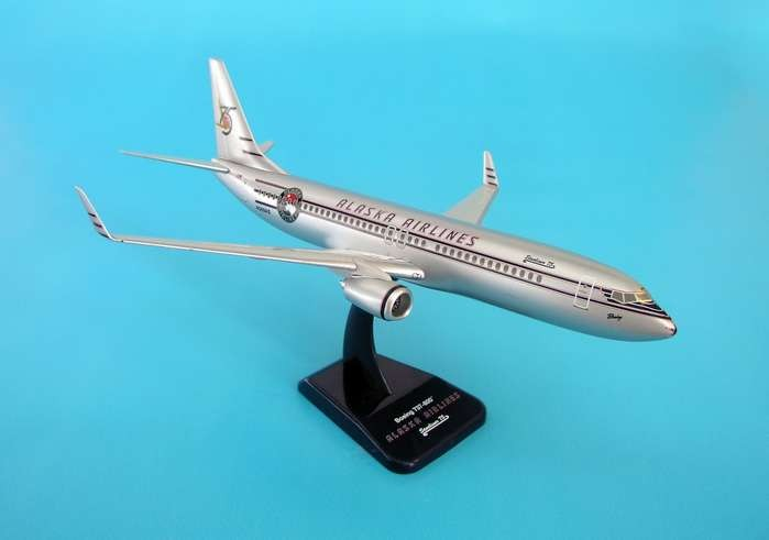 Alaska Airlines 75 Anniversary Boeing 737-800 1:200 hogan wings 1806 modèle b737