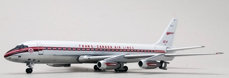 Military Vehicles For Sale Canada >> Trans Canada Airlines DC-8-50 with 15pcs GSE Vehicles Reg# CF-TJA Aeroclassics Scale 1:400 ...