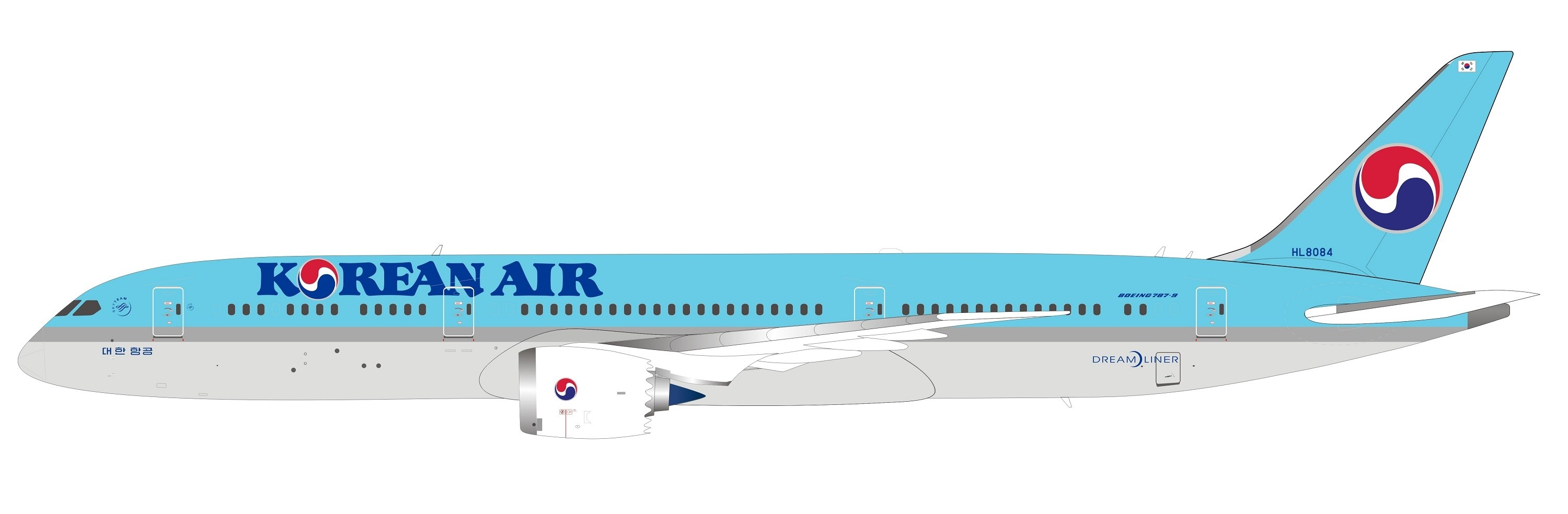Korean Air Boeing 787-9 Dreamliner HL8084 B-Models InFlight/B-models