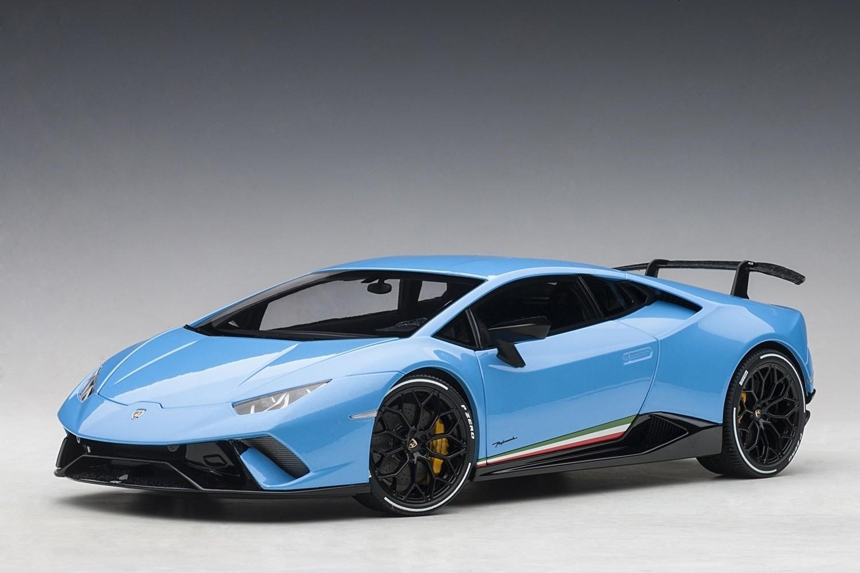 Lamborghini Huracan Performante Light Blue Cepheus Autoart 79153 Scale 1 18 Eztoys Diecast Models And Collectibles