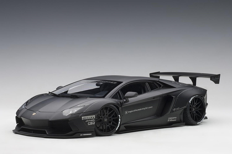 Liberty Walk Lb Works Lamborghini Aventador Matt Black Autoart 79106 Scale1 18 Eztoys Diecast Models And Collectibles