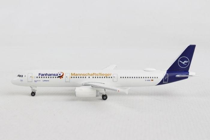 Herpa Wings 1:500 Airbus A 321 Lufthansa Fanhansa Mannschaftsflieger 531979
