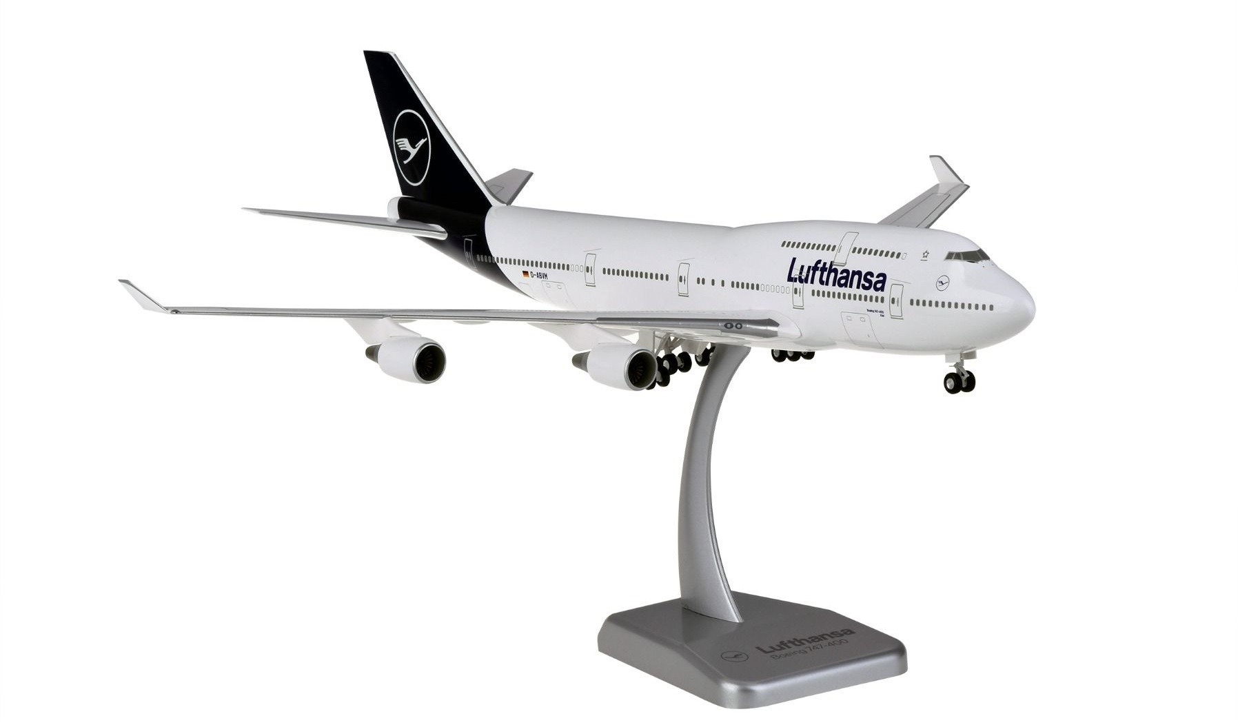 Lufthansa new livery Boeing 747-400 D-ABVM with gears & stand Hogan HGDLH009 Scale 1:200