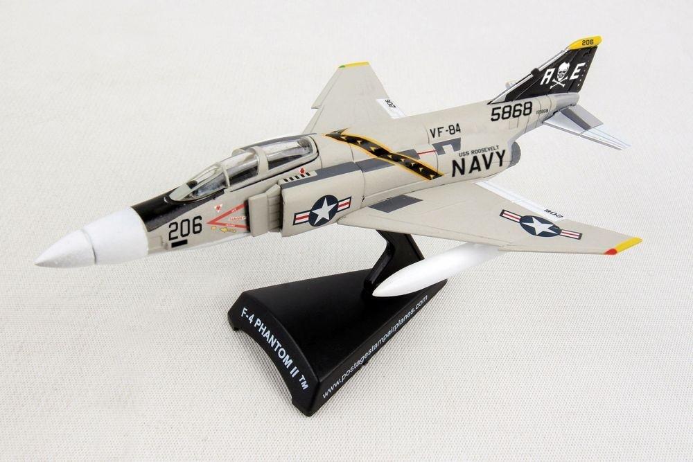 Daron POSTAGE STAMP F-4 PHANTOM II 1//155 JOLLY ROGERS VF-84 w//Stand New