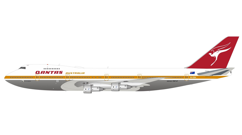 Qantas 747  Diecast Metal Plane Aircraft Models On Stand