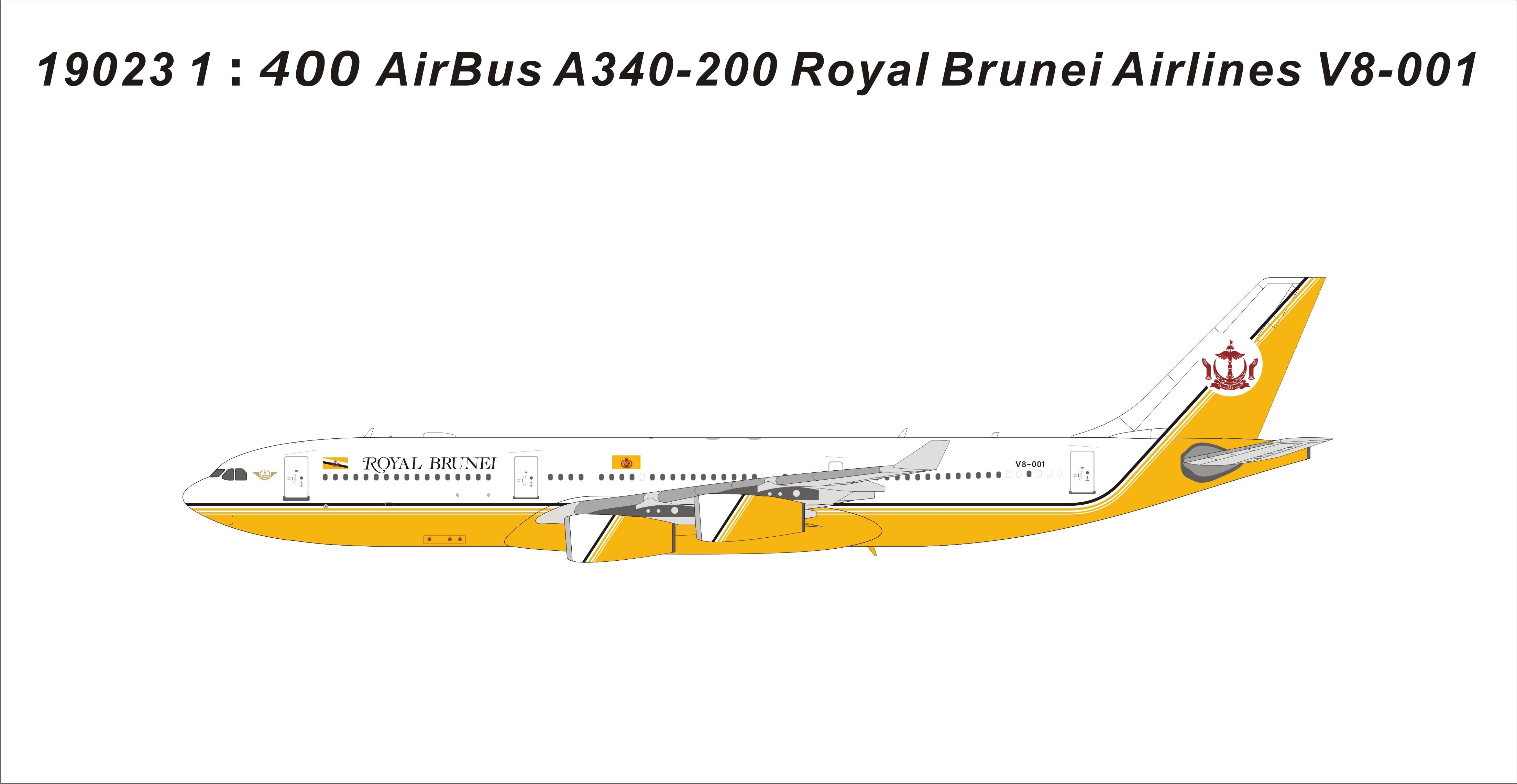 1:400 A319 V8-RBP Royal Brunei Airlines