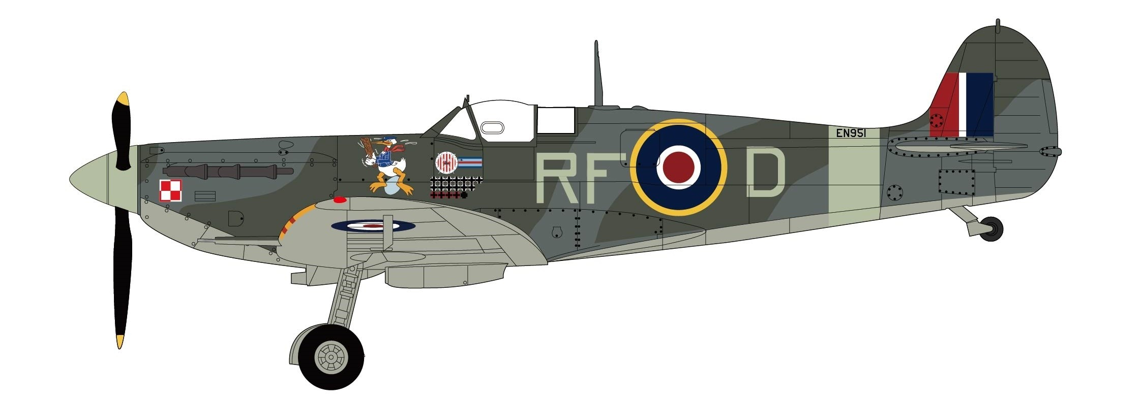 Spitfire Vb Double Ace RAF Sqn  Ldr Jan Zumbach 303