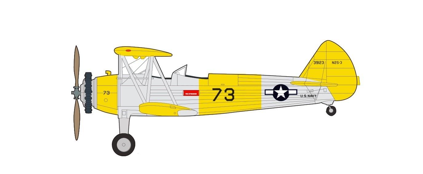 Stearman N2S-3 Kaydet US Navy 1944 Hobby Master HA8109 scale 1:48
